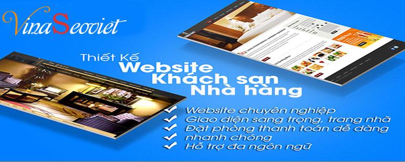 thiết kế website chuẩn seo nhà hàng khách sạn