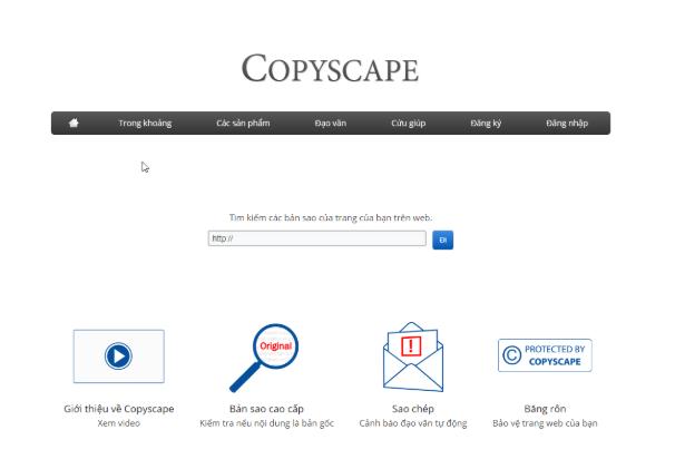 Copyscape – Công cụ quen thuộc của dân viết